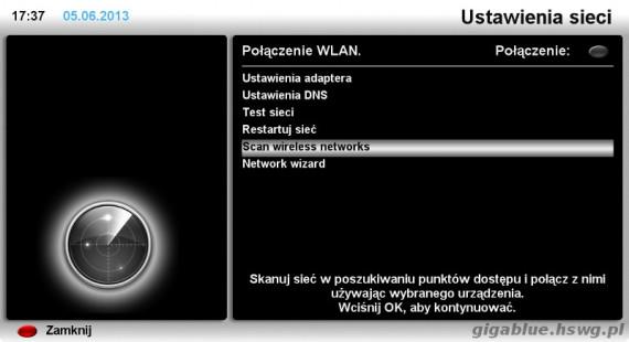 Enigma2 - skanowanie WiFi